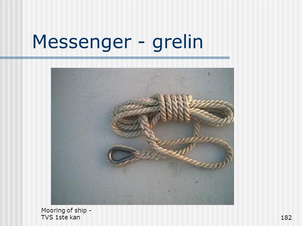 Mooring of ship - TVS 1ste kan182 Messenger - grelin