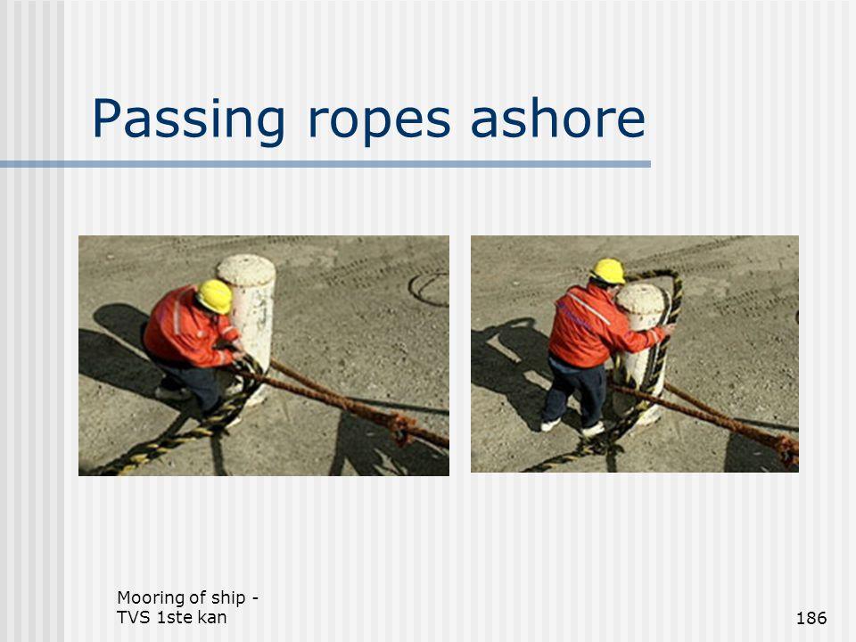 Mooring of ship - TVS 1ste kan186 Passing ropes ashore