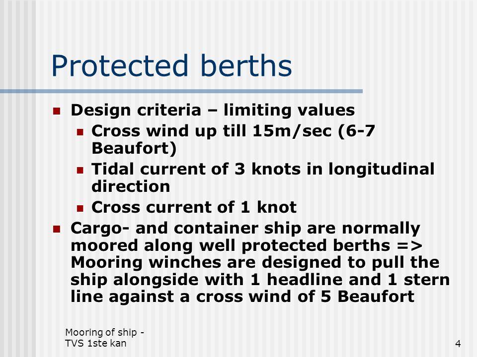 Mooring of ship - TVS 1ste kan125 Safe line handling – see lab 18.