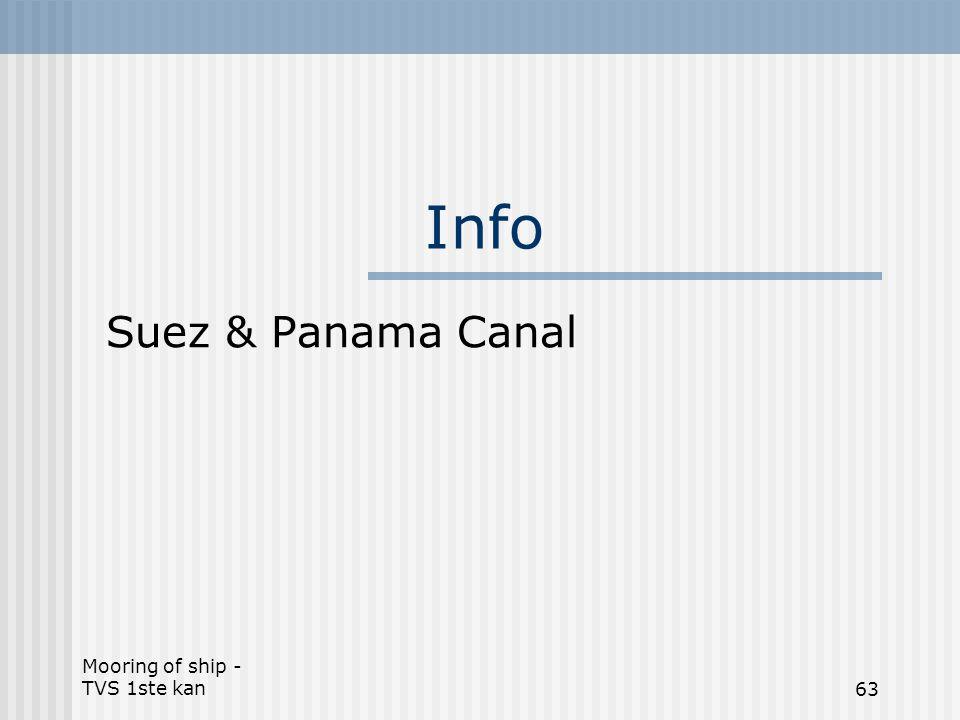Mooring of ship - TVS 1ste kan63 Info Suez & Panama Canal