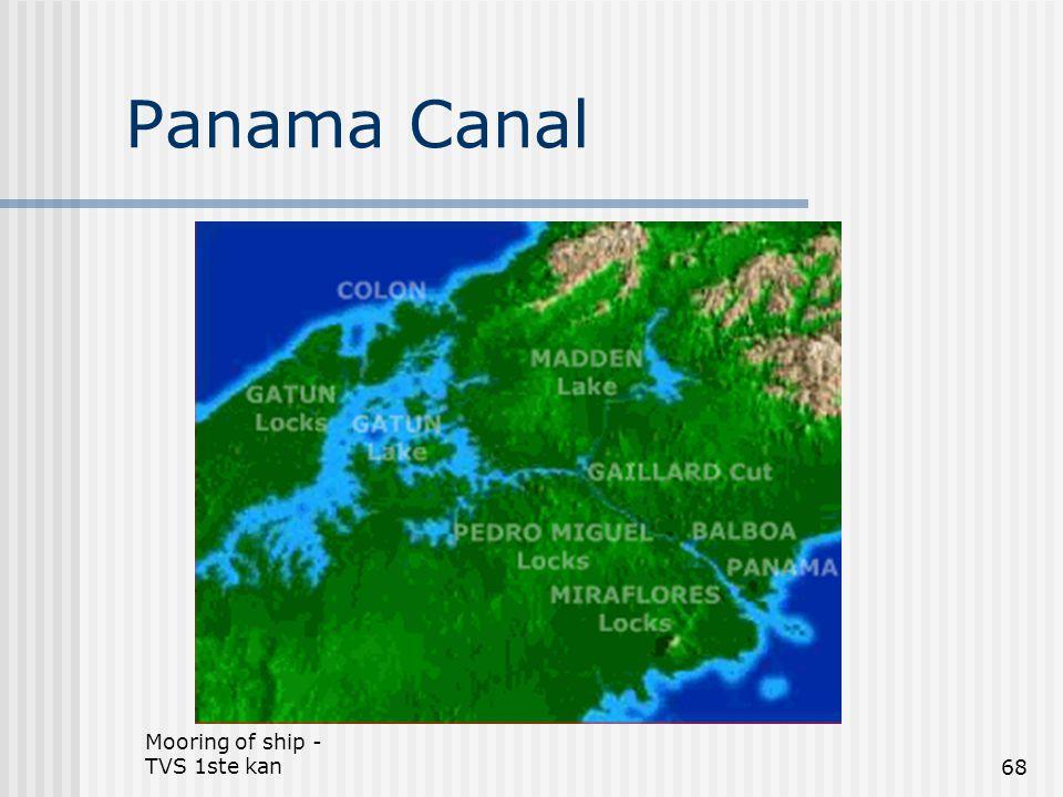 Mooring of ship - TVS 1ste kan68 Panama Canal