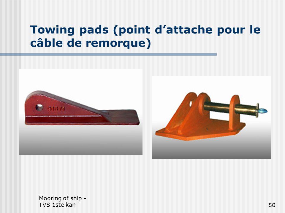 Mooring of ship - TVS 1ste kan80 Towing pads (point d'attache pour le câble de remorque)