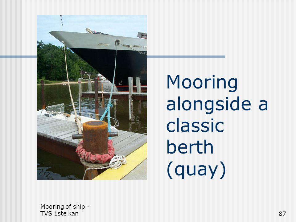 Mooring of ship - TVS 1ste kan87 Mooring alongside a classic berth (quay)