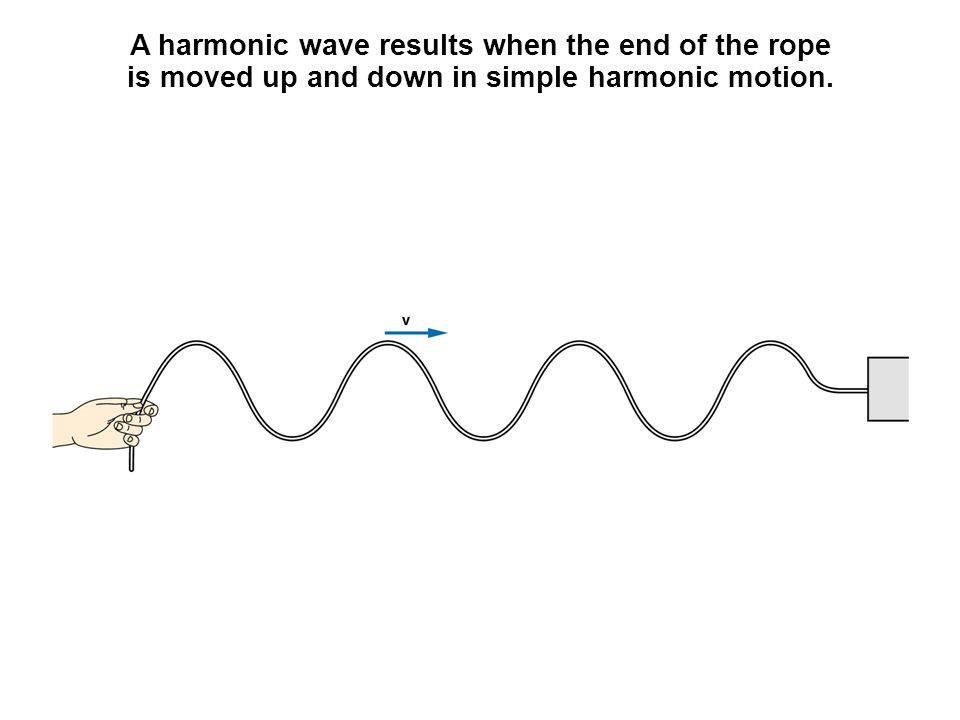 As the raised portion of a pulse approaches a given point on the rope, the tension in the rope acquires an upward component.