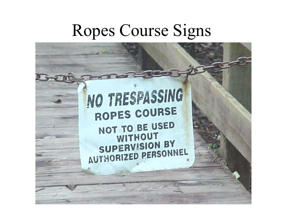 Ropes Course Signs