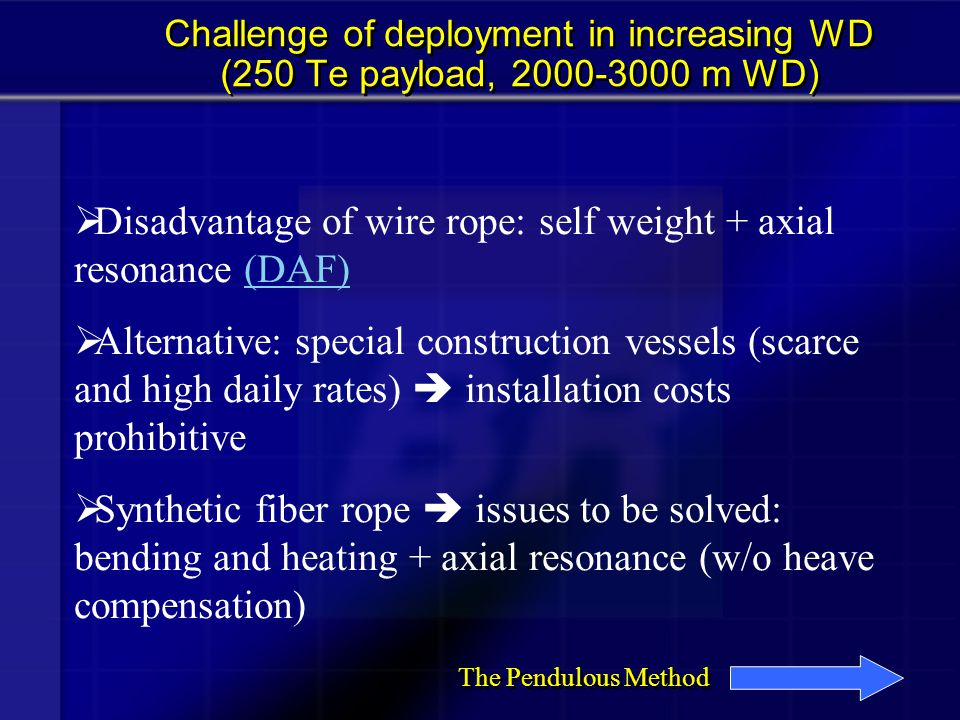 polyester wire rope and DBM chain manifold installation vessel Configuration 10 minutes after release
