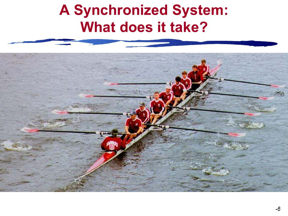 A Synchronized System: What does it take? -6