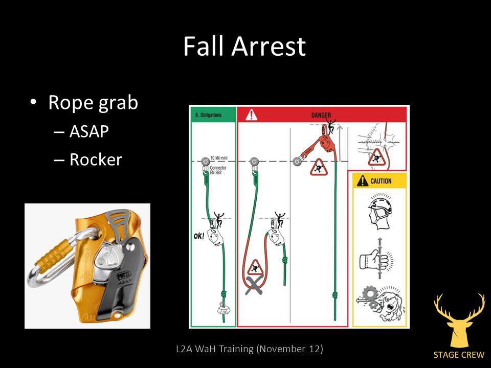 L2A WaH Training (November 12) Fall Arrest Rope grab – ASAP – Rocker