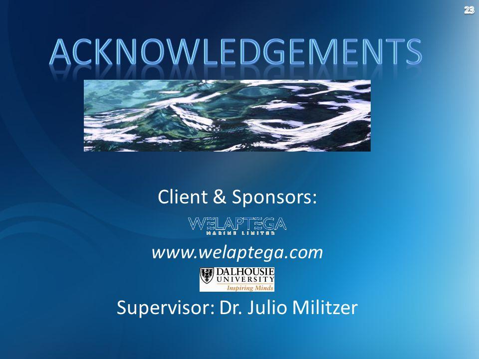 Client & Sponsors: www.welaptega.com Supervisor: Dr. Julio Militzer