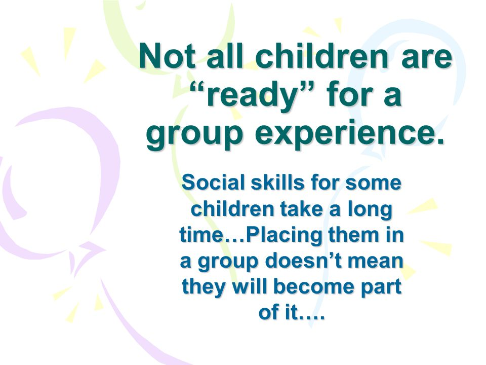 We must plan experiences that fit all stages of social play