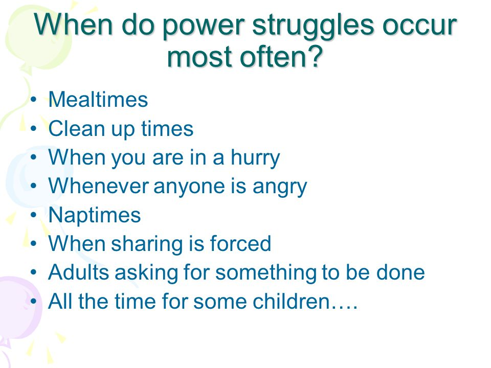 What is a Power Struggle An Individuals Need for CONTROL