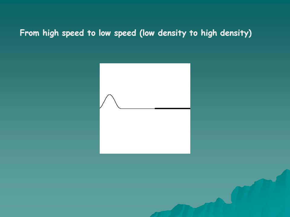 From high speed to low speed (low density to high density)