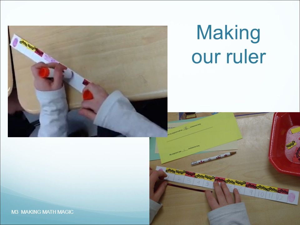 Making our ruler M3 MAKING MATH MAGIC