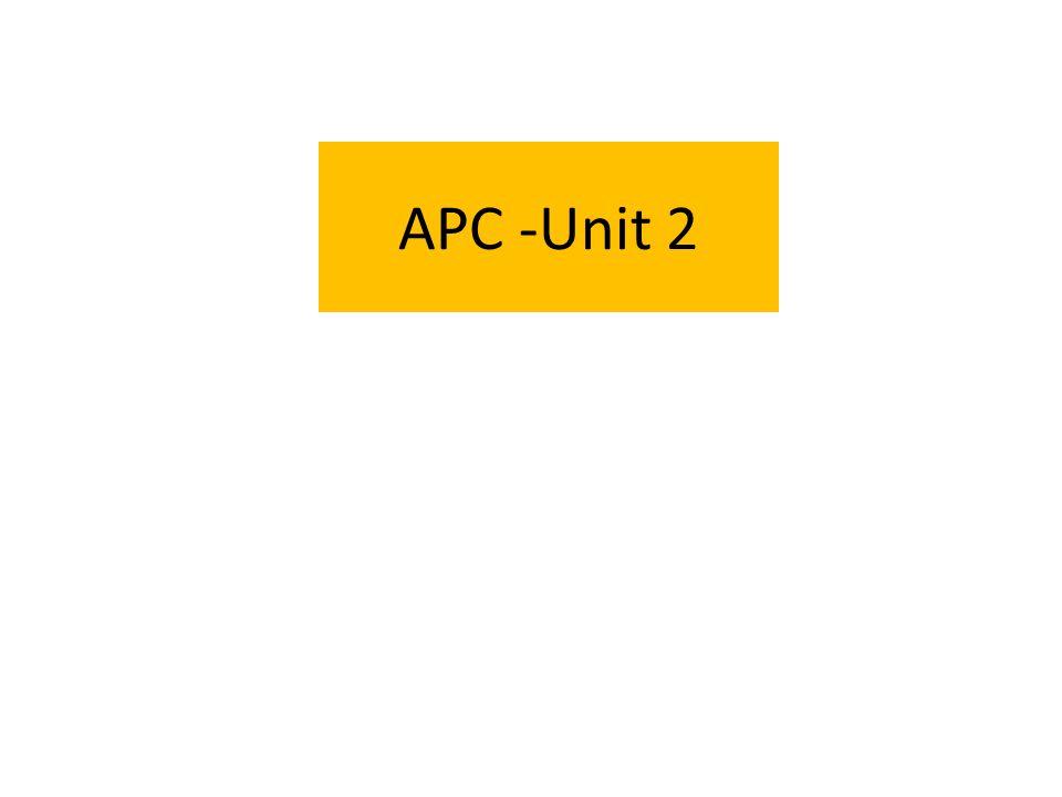 APC -Unit 2