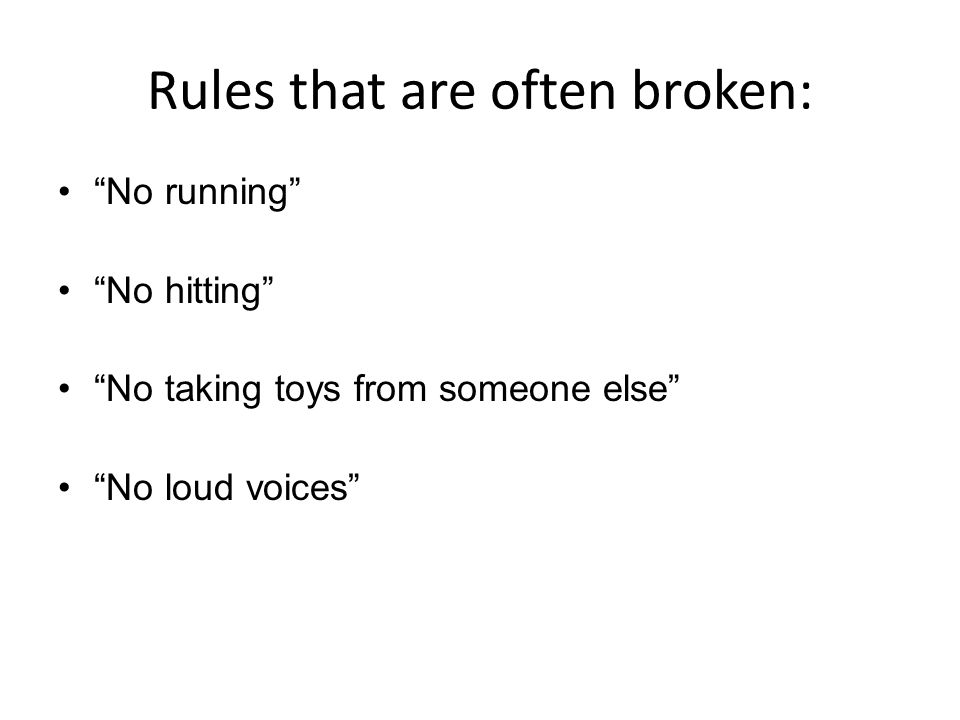 """When we have group rules, egocentric children believe you are not talking to them. Ex. """" boys and girls no running """""""