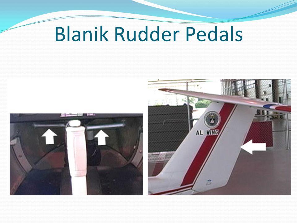 Blanik Rudder Pedals