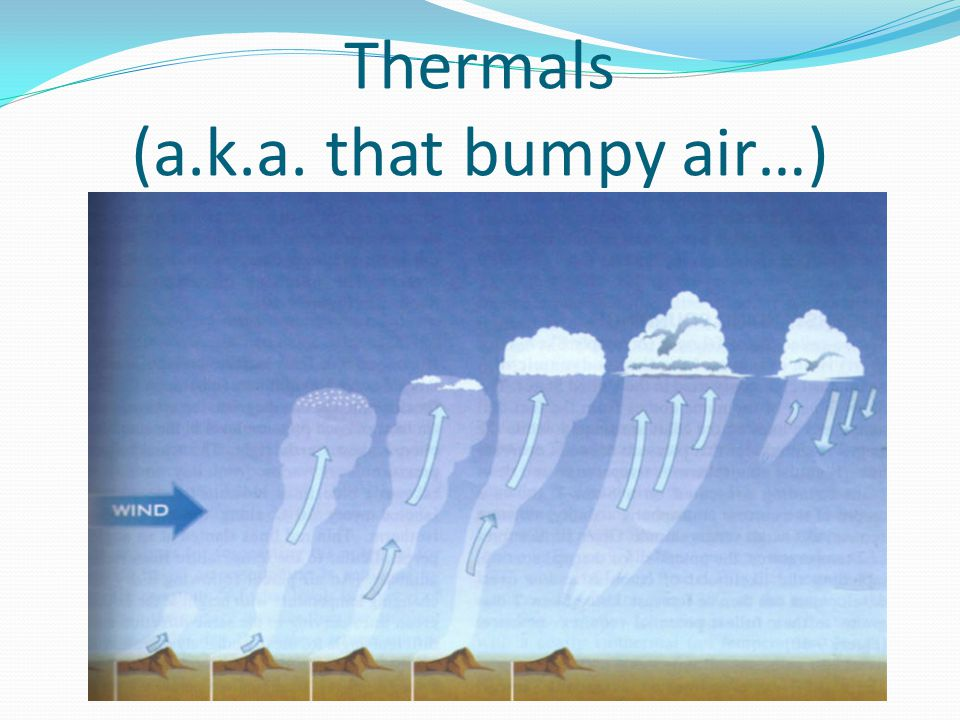 Thermals (a.k.a. that bumpy air…)