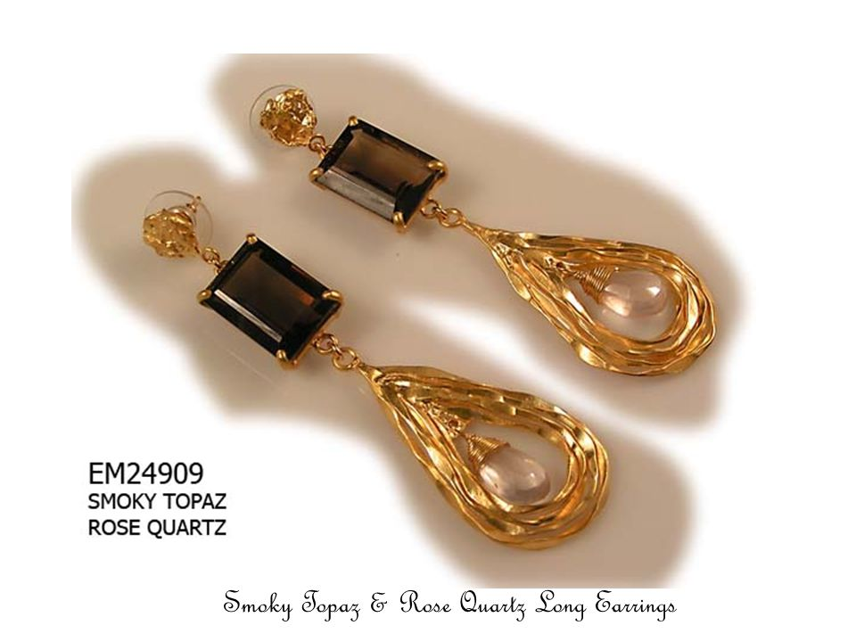 Black Onyx & Crystal Long Earrings