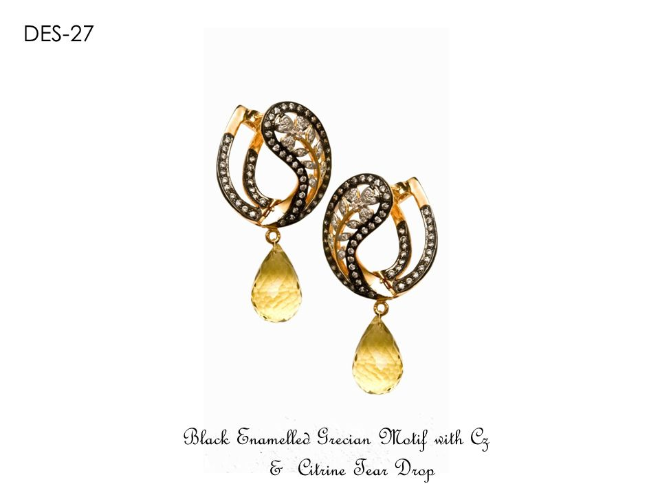 DEV-1477GR Gold Plated Emerald & Ruby Tear Drops