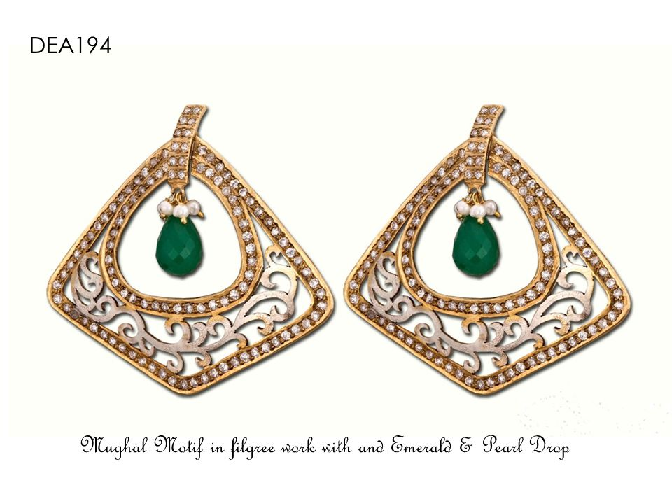 DEVH-30 Cz and Pearl Mini Jhumkas encircled in Diamond encrusted Rings