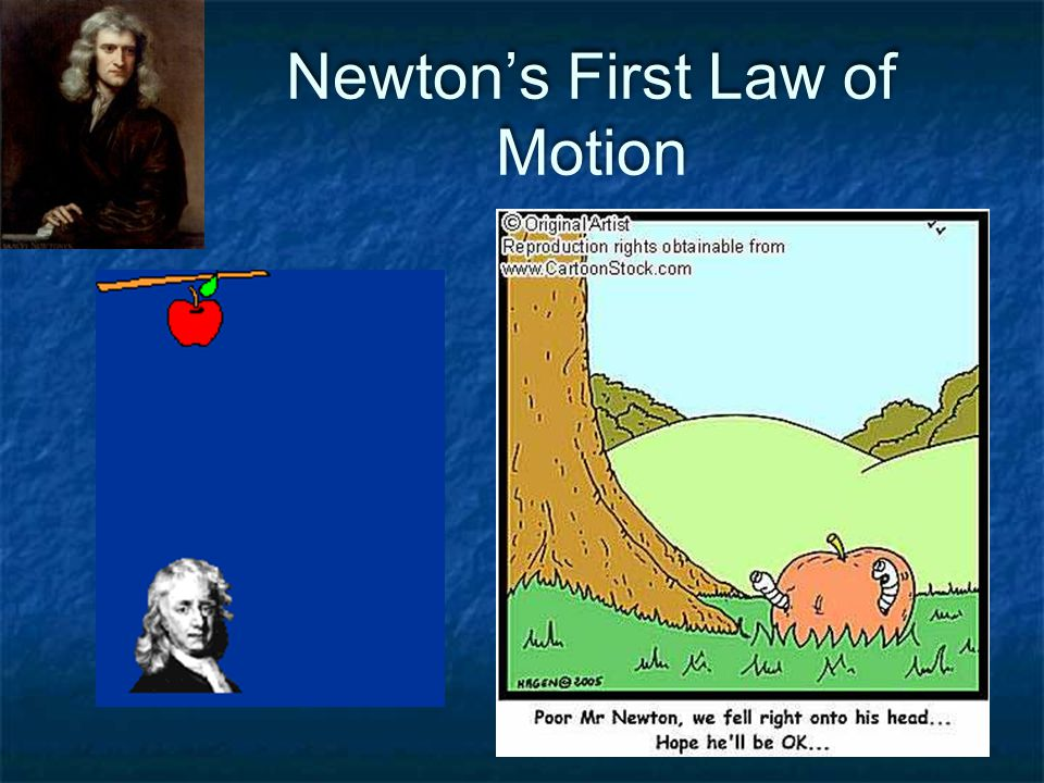 Newton's First Law of Motion  An object that is at rest will remain at rest or an object that is moving will continue to move in a straight line with constant speed, if and only if the net force acting on that object is zero.
