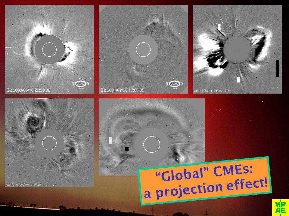 Global CMEs: a projection effect!