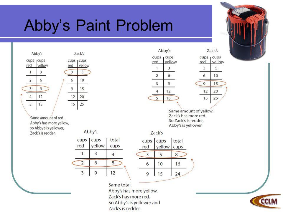 Abby's Paint Problem
