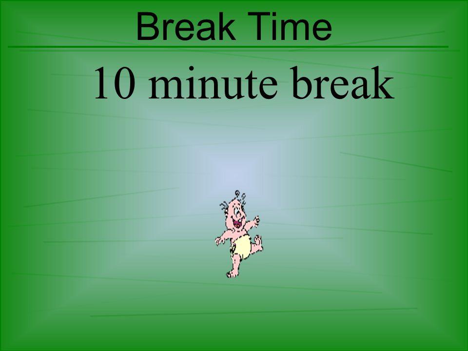 Break Time 10 minute break