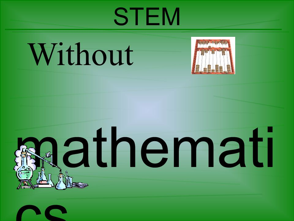 STEM Without mathemati cs, science wouldn't rule!