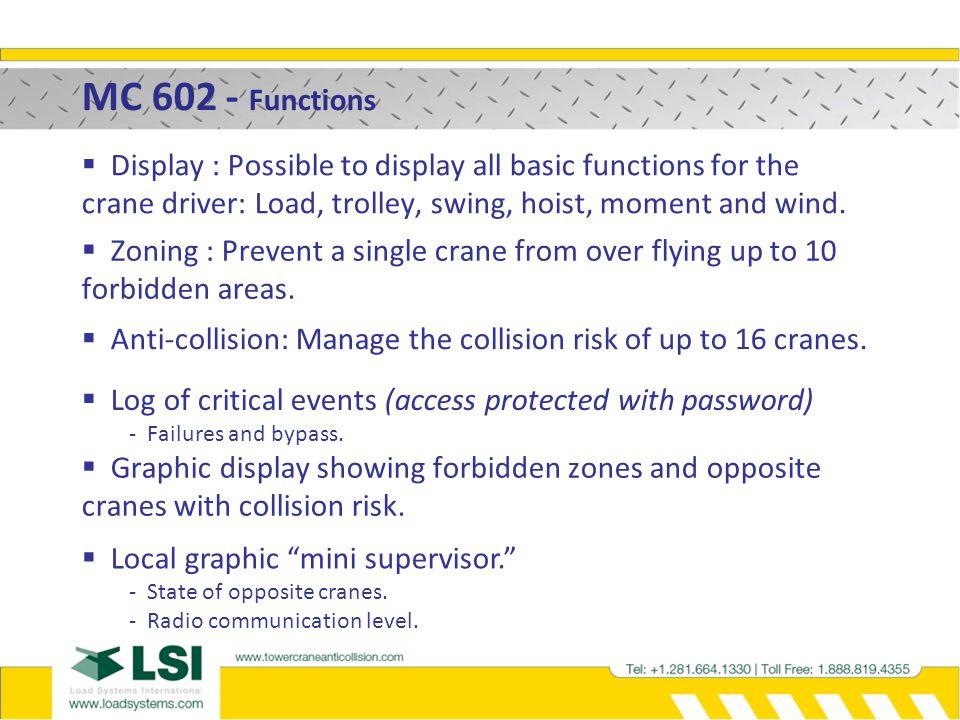 MC 602 – Anti-collision working principle on luffing jib TC2 2 nd case - Jib to Jib.