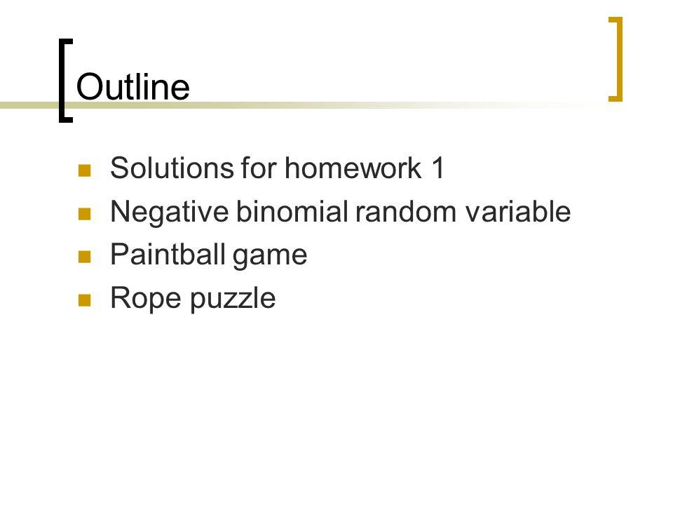 Solutions for homework 1