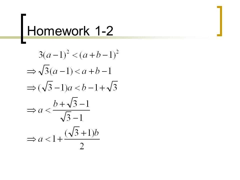 Homework 1-7 Consider the curve f(x)=1/x.