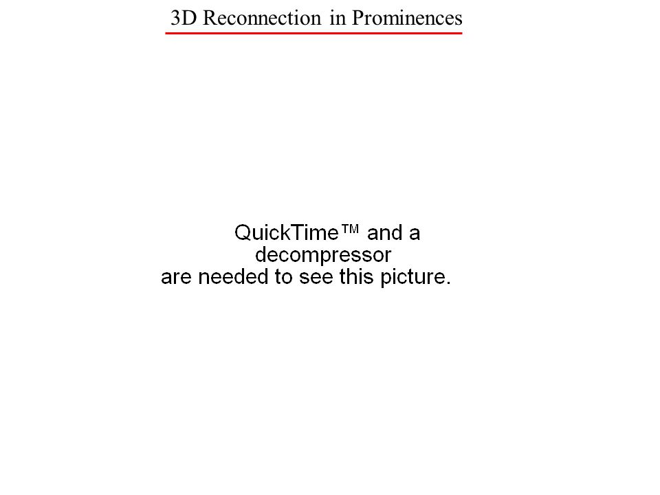 3D Reconnection in Prominences