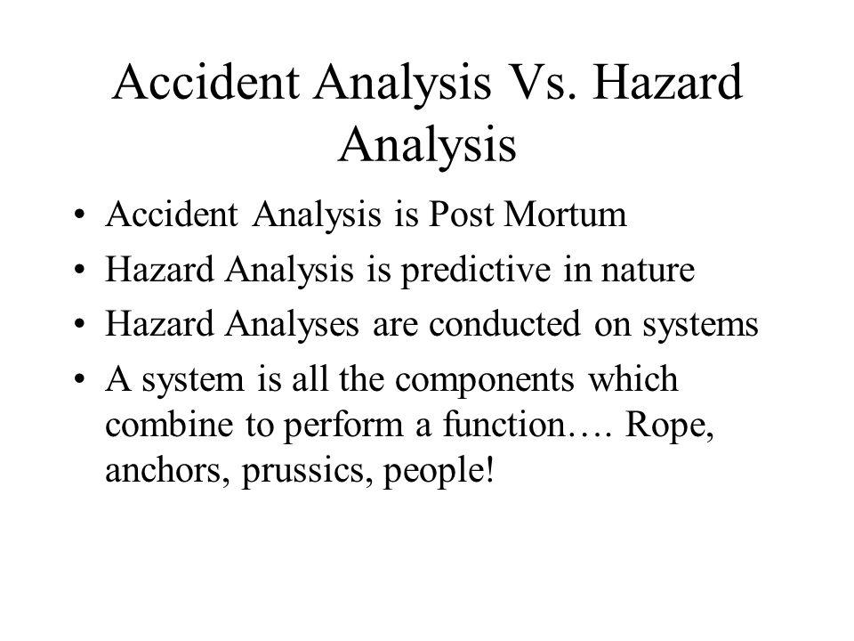 Accident Analysis Vs.
