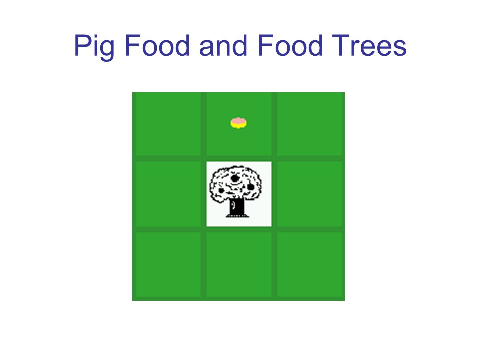 Pig Food and Food Trees