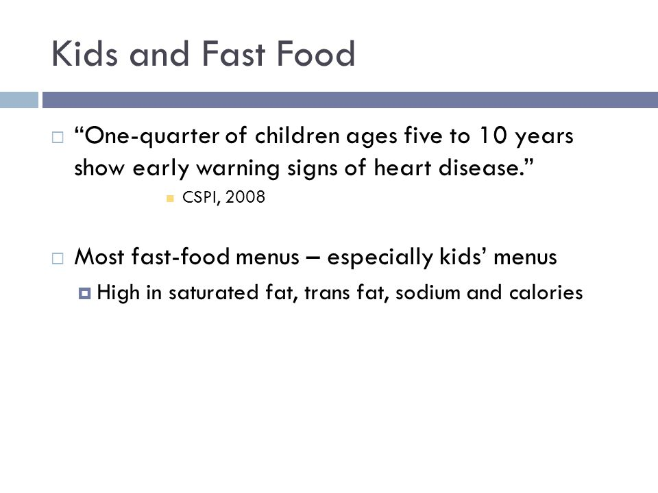 Food & Advertising  Children view an average of 3 ½ hours of television commercials per week, and each year they spend the equivalent of a week watching TV ads. (CSPI, 2003)  About half of these ads are for food.
