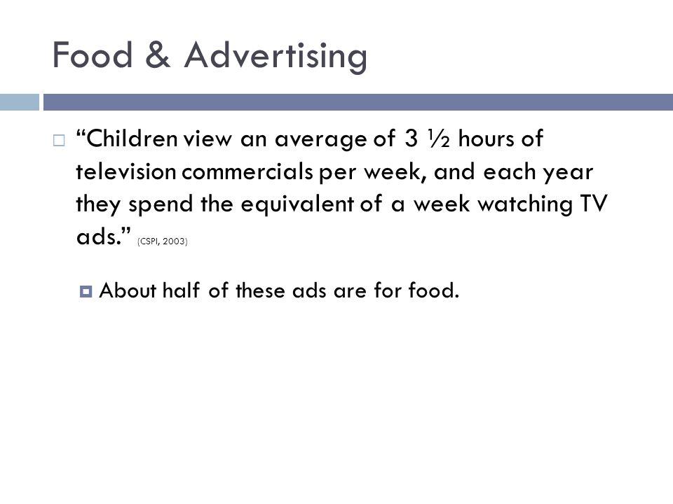 TV Advertising for Food vs.