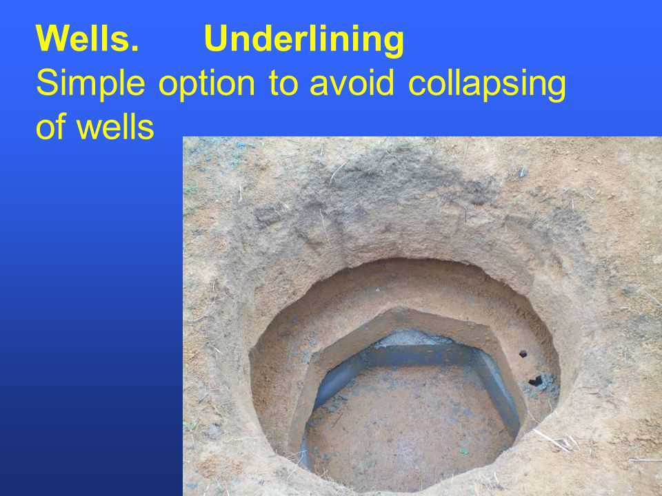 Wells. Underlining Simple option to avoid collapsing of wells
