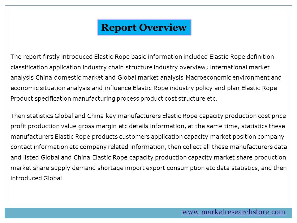 and China Elastic Rope 2015 capacity production price cost profit production value gross margin etc information.