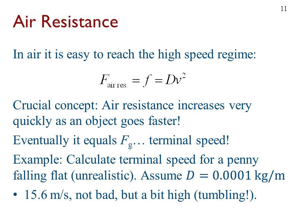 Air Resistance 11