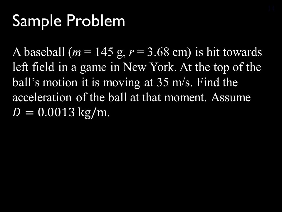 Sample Problem 14