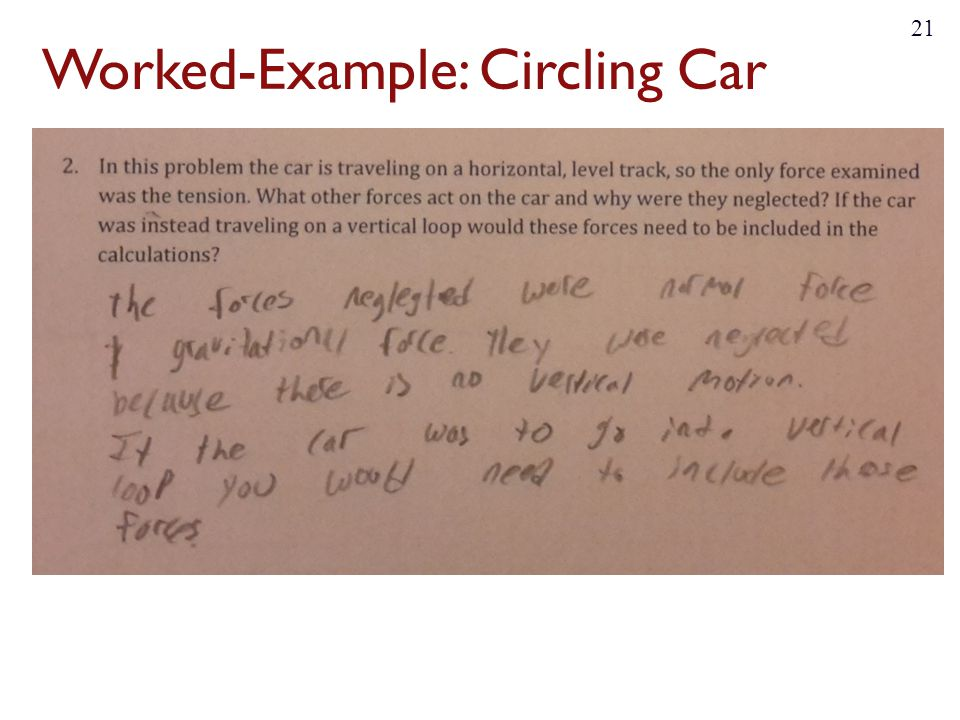 Worked-Example: Circling Car 21