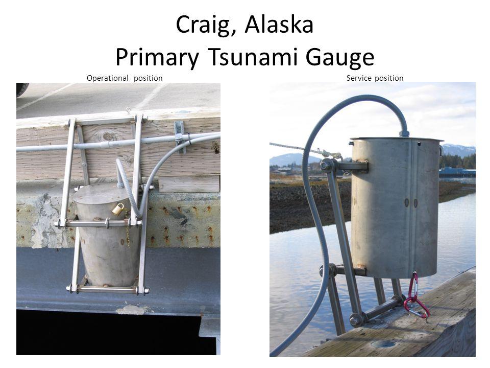 Craig, Alaska Primary Tsunami Gauge Operational position Service position