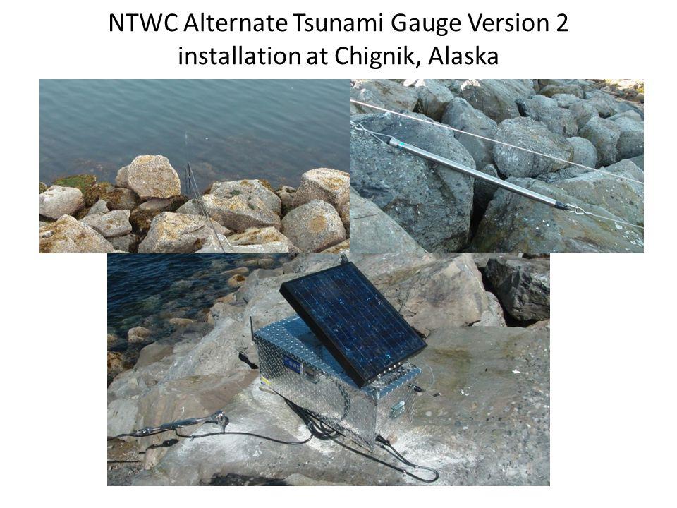 NTWC Alternate Tsunami Gauge Version 2 installation at Chignik, Alaska