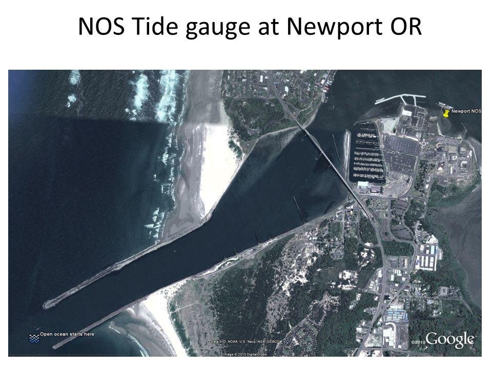 NOS Tide gauge at Newport OR