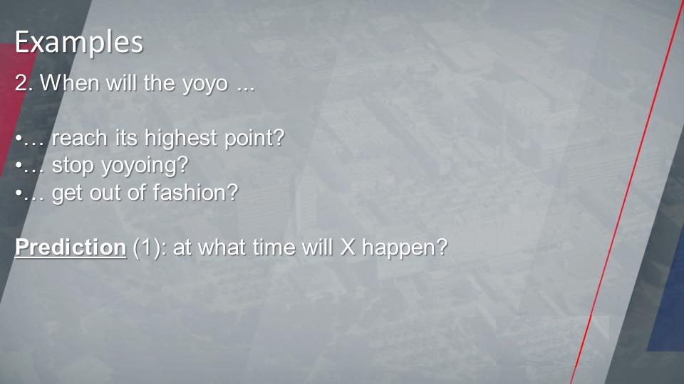 2. When will the yoyo... … reach its highest point.