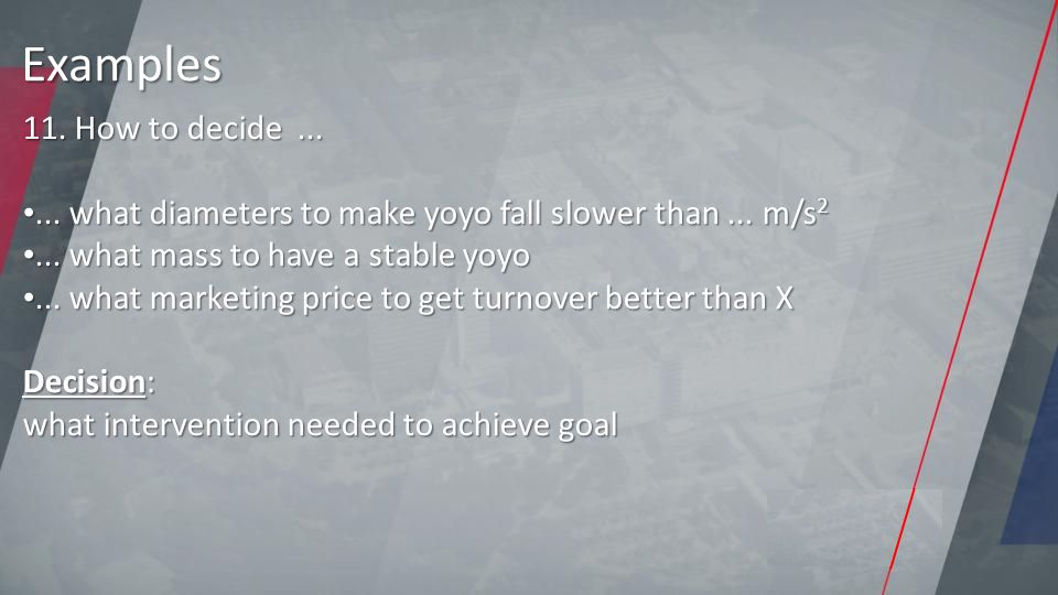 11. How to decide...... what diameters to make yoyo fall slower than...