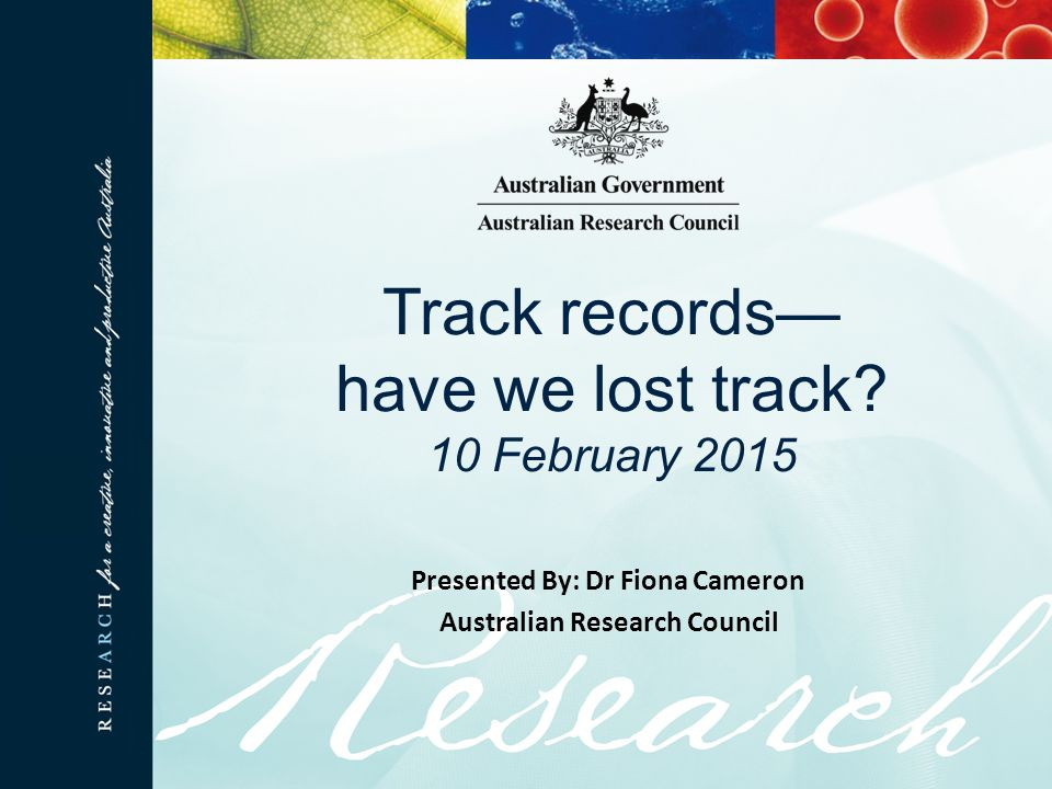 Track records— have we lost track.