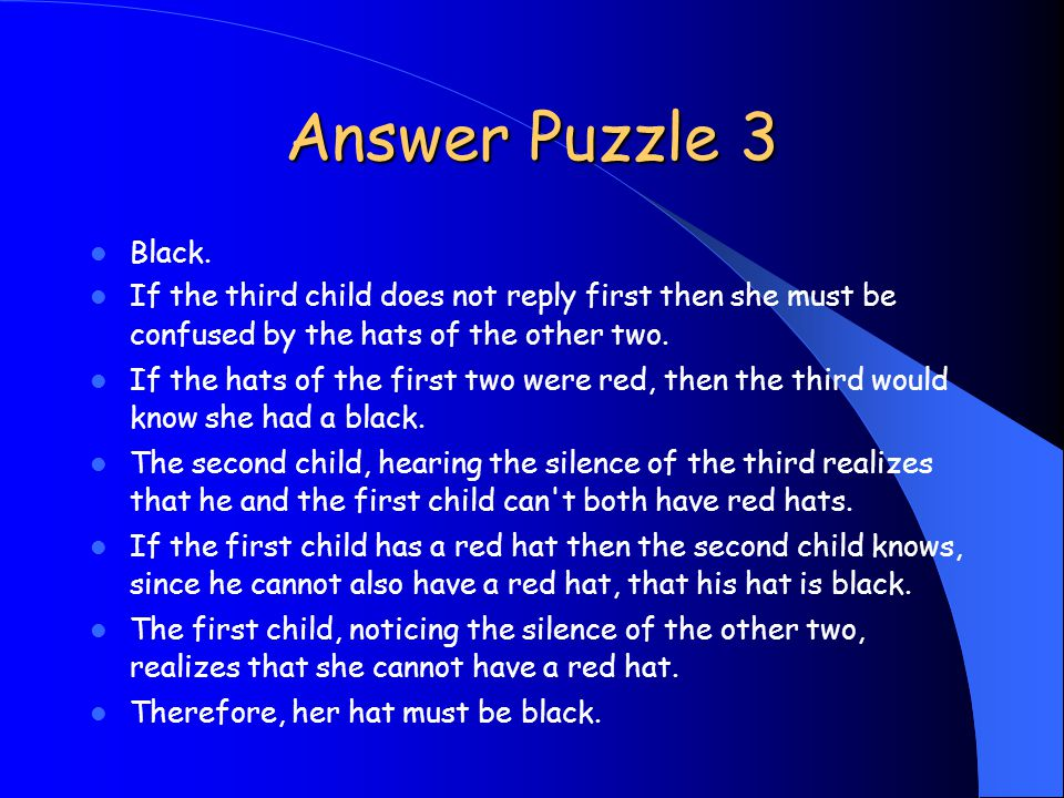 Answer Puzzle 3 Black.