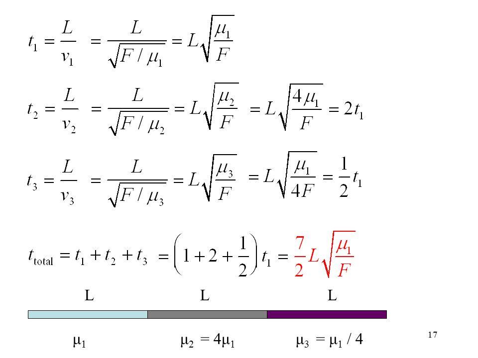 17 μ1μ1 μ 2 = 4μ 1 μ 3 = μ 1 / 4 LLL